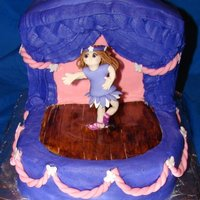 Ballerina Cake this is my first fondant modeling. and yes i can see where i need to improve. but it was a hit for the 5 yr old