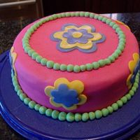 Hpim0043.jpg This was the bottom layer of the original 2 layer cake I made for my friend's daughter's birthday. The top layer was for the...