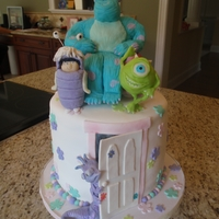 Monsters Inc. Cake Monsters Inc. - all figures are RKT covered in modeling chocolate. WASC cake with oreo filling