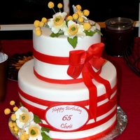 Christmas/birthday  This cake was made for a sweet lady who turned 65 the week before Christmas. Her daughter requested something Christmas-y so I went with...
