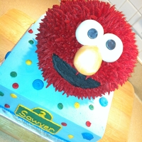 Elmo all buttercream except for the eyes and nose
