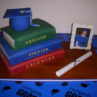 Grandsons Graduation Cake This is a pic of my only and special grandsons graduation cake. Got the dvd from sharon zambito. My first try at something like this. It...
