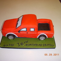 3D Truck Cake This is my grandson's 16th b/d cake. He inherited his dads truck. I studied for 2 yrs. on mike mccary's car dvd, wishing to do...