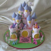 My Little Pony Castle Cake This is a castle cake l recently did for my daughters 5th bithday. The ponies came from a my little pony game. The castle was inspired by a...