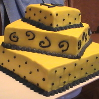 Yellow Black B-Day Cake