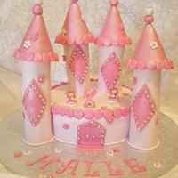 Halle's Princess Castle Pink Princess Castle for our best friends daughter.