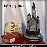 Harry Potter Castle Cake Harry Potter Castle Cake for boys...Pl visit my page and LIKE it... Thanks in advance http://www.facebook.com/pages/Sugarcraft-India/...