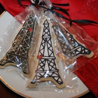 Eiffel Tower bridal shower favors in the shape of the eiffel tower. a woman at worked asked me for them and they proved to be EXTREMELY fragile! I had...