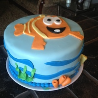 Bubble Guppies   Blue Bubble Guppies Cake