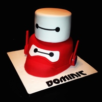 Big Hero 6 Bottom tier is a carved 8 inch round , top is a 6 inch . All fondant.