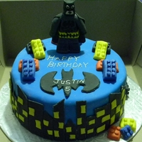 Batman Lego Birthday Cake  I made this cake for my nephew's 5th Birthday. The cake is double chocolate and the decorations are all made with Fondant. Thanks for...