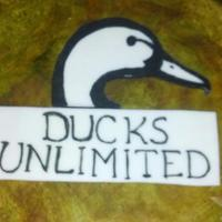 Ducks Unlimited Grooms Cake MMF, brushed painted.*