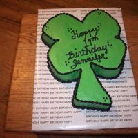 4 Leaf Clover This cake did not turn out like I wanted it to. This was for one of the check out ladies at the grocery store. She absolutely loved the...