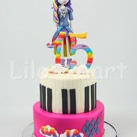 Rainbow Rocks Rarity  Birthday Cake for my sweet 15 year old girl!Big fan of My Little Pony and the Equestria Girls, so I made her Rarity who plays the keyboard...