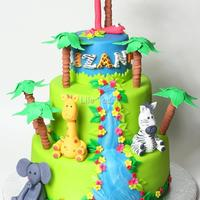 Jungle Theme Cake Jungle theme cake