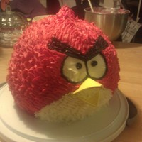 Red Angry Bird  I made this for a friend at work for a little pre-wedding lunch. She liked it so much she kept it for the wedding. I have to admit I...