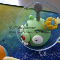 Space Angry Birds Sugarcraft