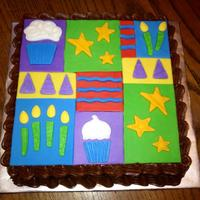 Fondant Topper With Wilton Molds fondant topper with Wilton molds