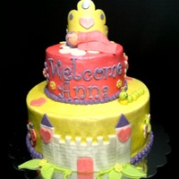 Princess Baby Cake This was done for a couple at my church, they are expecting their first little princess. Two tiers iced with buttercream and airbrushed...