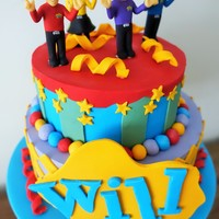 Will's Wiggles Cake First Wiggles Cake for me. SO hard to deal with humidity!