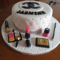 Chanel Makeup Cake All In Fondant   Chanel Makeup Cake All in Fondant