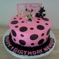 Disney Minnie Mouse Cake   Minnie Mouse Cake Fondant Details