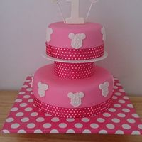 Disney Minnie Mouse First Birthday First Birthday Minni Mouse cake