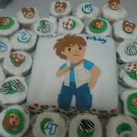 Diego Birthday Cake And Cupcakes