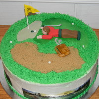 Golf Birthday Cake:).   This cake was insired by teaparty. Thank you:)!