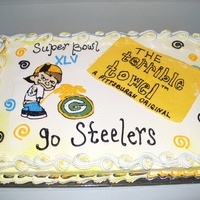 Steelers Vs. Green Bay All buttercream frosted cake
