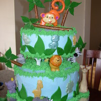 My Baby Shower Cake Jungle Theme   My baby shower cake. Jungle Theme