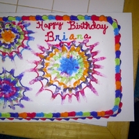 My First Tye Dye Cake