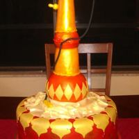 Hookah *I created this Hookah cake for a Moroccan themed party. Base is chocolate cake airbrushed and edible gems. Hookah is made from molded Rice...