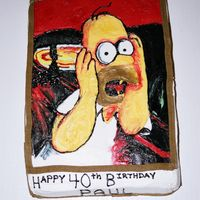 Homer Scream Hand Painted with ButtercreamHomer Simpson Scream