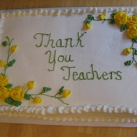 Teacher Appreciation Cake