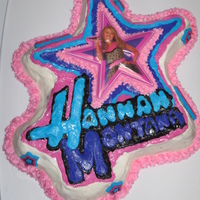 Hannah Montanna Cake Not my best cake, but my daughter loved it!