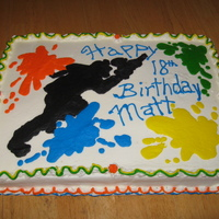 Paintball Cake All butter cream.