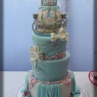 Cinderella Birthday Cake Made for my niece Carissa this weekend. All edible; Carriage made using RKT.