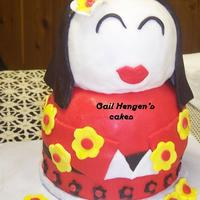 China Doll- Orofino Distinguished Young Women Program Auction Donation this cake was for the auction held at the Orofino Distinguished Young Women program auction they hold while the judges are deliberating to...