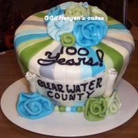 Local Fair Entry For Clearwater County's 100Th Birthday! design and colors inspired by CandyCU's Stripey Green and Blue wonky Fathers day cake. thanks for the help my friend- i tried to do...