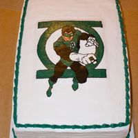 Green Lantern Green Lantern cake I made for a childs birthday. Green Lantern is a FBCT made with all shortening frosting. I made the FBCT 8x11 and did a...