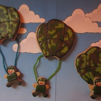 Army Parachuting Cookies Made these for my sons class for their Adopt a Soldier day