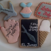 Fifty Shades Of Grey Cookies Cookies I made for our book club