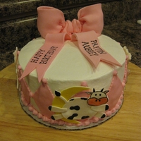 Hey Diddle Diddle Cake Cake for girl's first birthday. Hey diddle diddle, the cat played the fiddle, the cow jumped over the moon...