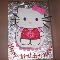 Hello Kitty   BC icing w/ fondant accents. Thanks for looking!