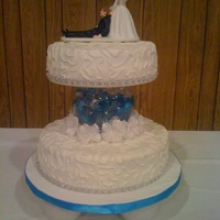 Wedding Cake-Round butter cream frosting
