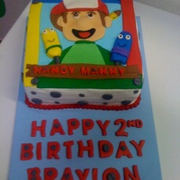 Handy Manny Cake MMF decorations