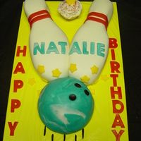 Bowling Cake Inside is dyed blue/white. MMF
