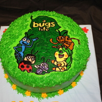 Bugs Life Cake   Butter cream w/MMF letters