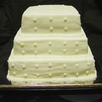 Wedding Cake-Square Butter cream
